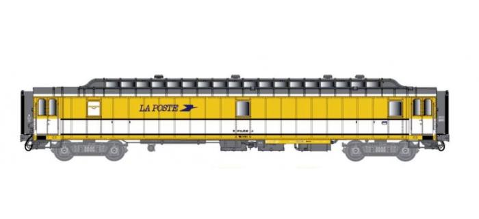 Train électrique : LS MODEL -LSM40419 - Voiture OCEM livrée jaune/blanc, toit gris, logo