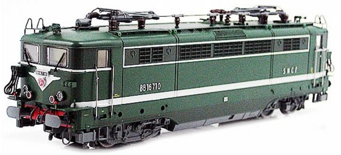 Train électrique : LS MODEL LSM10167S - Locomotive électrique BB 16710 livrée vert digital son