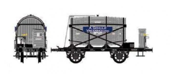 Train électrique : LS MODEL LSM30554 - Wagon monofoudre avec guérite, gris, EST