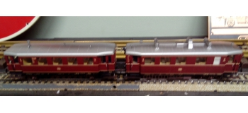 Modélisme ferroviaire : MÄRKLIN - MARK37708 - Automotrice diesel avec wagon remorque