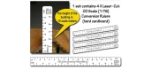 Modélisme ferroviaire : PROSES PR-CR-87M - Echelle de conversion Ruler (Métric) HO