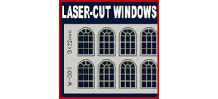 Modélisme ferroviaire : PROSES W-003 - fenêtres cintrées