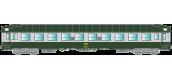 Modélisme ferroviaire : R37 - R37-HO42107 - Voiture voyageurs UIC HO 42107 - B9c9x 51 87 59 70 745-9 - Ep IV Gérance : LE LANDY - Région NORD