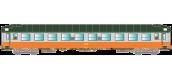 Modélisme ferroviaire : R37 - R37-HO42110 - Voiture voyageurs UIC B9c9x 51 87 59 70 819-2 - Ep IV Gérance : CALAIS - Région NORD