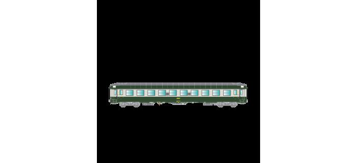 Modélisme ferroviaire : R37 - R37-HO42112 -Voiture voyageurs UIC B9c9x 51 87 44-70 777-2 - Ep IV Gérance : TOURCOING - Région NORD