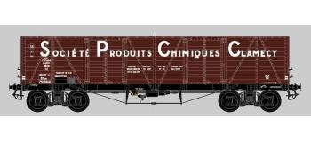 COLLECTION R37-HO43001 - Coffret de 2 wagons tombereaux «Clamecy » Ep. III Société Produits Chimiques Clamecy