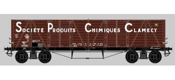 COLLECTION R37-HO43002 - Coffret de 2 wagons tombereaux «Clamecy » Ep. III Société Produits Chimiques Clamecy