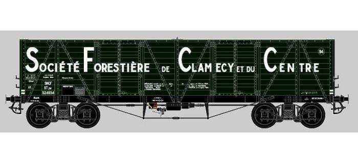 Modélisme ferroviaire : COLLECTION R37-HO43004 - Coffret de 2 wagons tombereaux «Clamecy » Ep. III Société Forrestière de Clamecy et du Centre