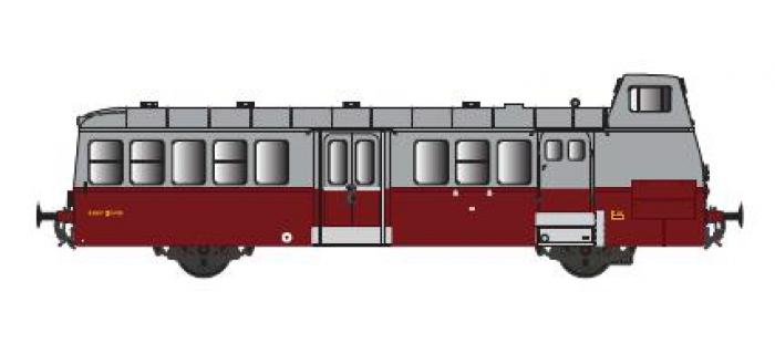 Modélisme ferroviaire : R37 Collection R37-HO41001S - Autorail X5625 versions à faces lisses, DCC, dépôt Orléans (rouge rubis) Ep IIIa
