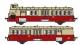 Modélisme ferroviaire : R37 Collection R37-HO41004 - XBD 5606 et remorques XR 9204 version à faces lisses, dépôt Annemasse (rouge crème) Ep IIIa