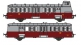 Modélisme ferroviaire : R37 Collection R37-HO41003 - X 5614 et remorques XR 9207 version à faces lisses, dépôt Le Blanc (rouge rubis) Ep IIIa