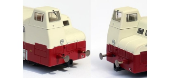 Collection R37-HO41004S - XBD 5606 et remorque XRBD 9204 version à faces lisses, DCC, dépôt Annemasse (rouge crème) Ep IIIa