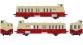 Modélisme ferroviaire : R37 Collection R37-HO41005S - Autorail XBD 5629 version à faces lisses, DCC, dépôt Montauban (rouge crème) Ep IIIb