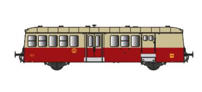 Modélisme ferroviaire : COLLECTION R37 ; R37-HO41017R Remorque XR BD 9210 (rouge crème) Ep IIIc