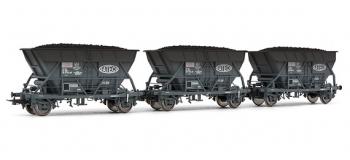 electrotren el0907 Coffret 3 wagons trémie EF 30 SNCF vieillis avec chargement de charbon