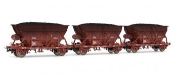 electrotren EL0912 Coffret 3 wagons trémie viellis avec chargement de charbon, RENFE