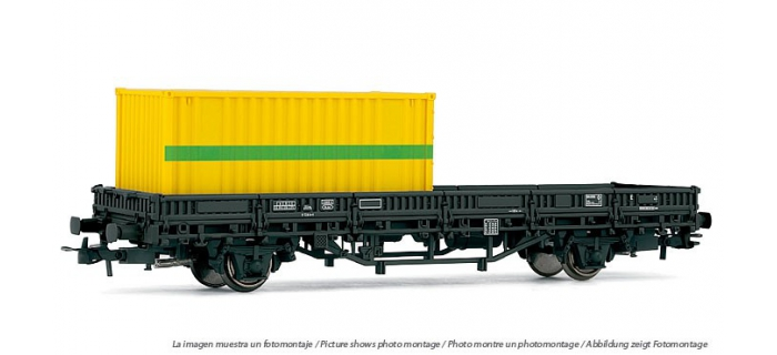 ELECTROTREN 1549 Wagon plat a? essieux ETF avec conteneu