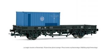 ELECTROTREN 1550 Wagon plat a? essieux TSO avec conteneur