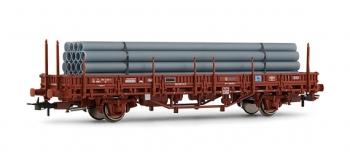 electrotren EL1578 Wagon plateforme, type Ks, avec tuyaux