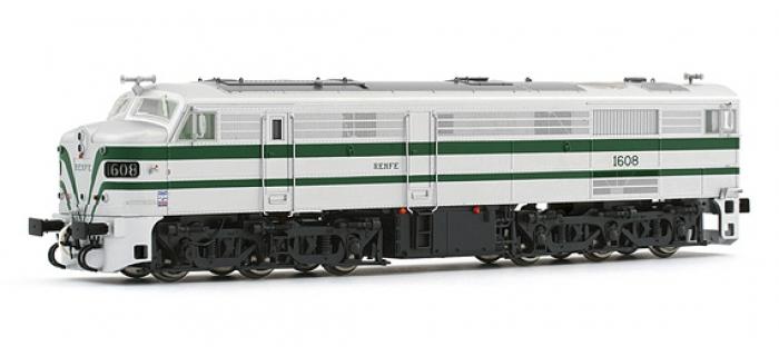 electrotren EL2400D Locomotive Diesel 1608, DC Digital, RENFE