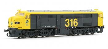 electrotren EL2404D Locomotive Diesel 1601, Jaune et Grise, RENFE