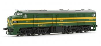 electrotren EL2411D Locomotive Diesel 1602, Verte et Jaune, RENFE