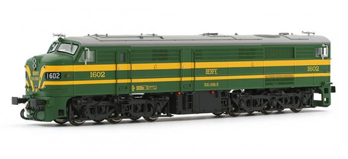 electrotren EL2412S Locomotive Diesel 1602, Verte et Jaune, RENFE
