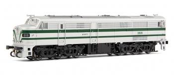 electrotren EL2451S Locomotive Diesel 1818, verte et argent, RENFE