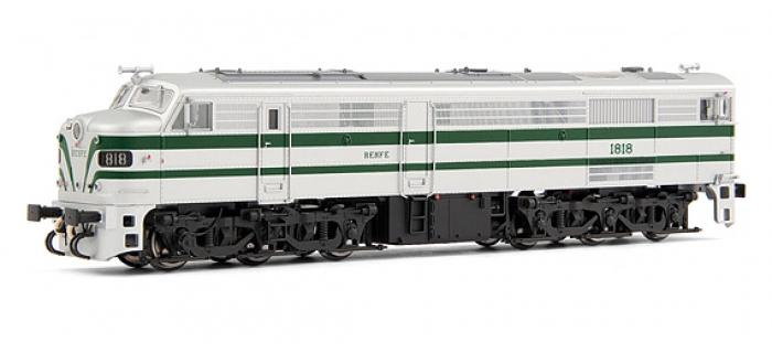 electrotren EL2451 Locomotive Diesel 1818, verte et argent, RENFE