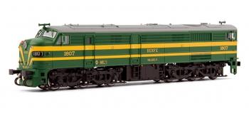 electrotren EL2452 Locomotive Diesel 1807 verte et jaune, RENFE