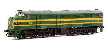 electrotren EL2453 Locomotive Diesel 1807 verte et jaune, RENFE