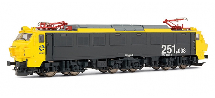 electrotren EL2584 Locomotive Electrique 251.008 jaune et grise, RENFE