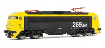 electrotren EL2692D Locomotive Electrique 269.604, Jaune et Gris, Largo Recorrido