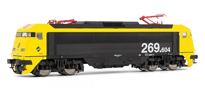 electrotren EL2693 Locomotive Electrique 269.604, Jaune et Gris, Largo Recorrido