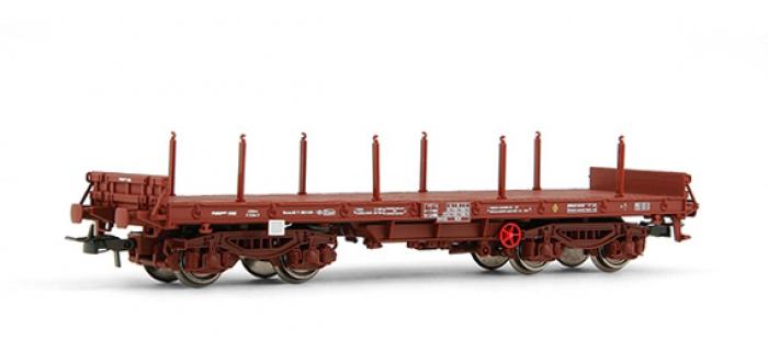 modelisme ferroviaire electrotren EL5163 Wagon plat, type Rmms, avec 8 ranchers