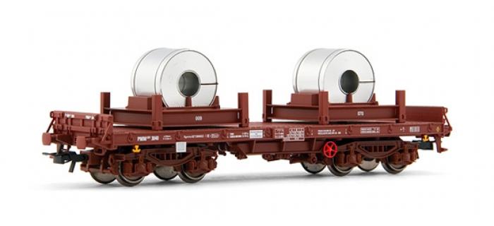 electrotren EL5164 Wagon plat, type Rmms, chargé avec fuseaux