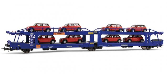 electrotren EL6031 Wagon porte-autos à 2 niveaux SITFA, type Laes