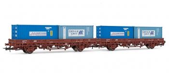 electrotren EL6208 2 Wagons Ks avec conteneurs