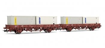 electrotren EL6209 2 Wagons Ks avec conteneurs