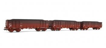 electrotren EL6905 Coffret 3 wagons vieillis, type Ealos, avec chargement de charbon, RENFE