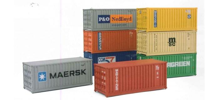 EL0142 Assortiment de 8 containersde 20 pieds