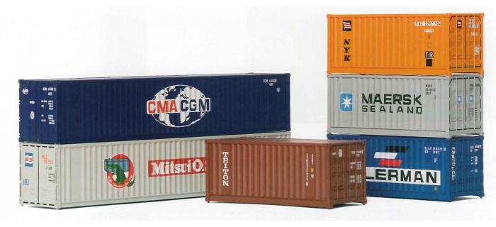 EL0146 Assortiments de 6 containers de 20 et 40 pouces
