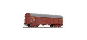 Modélisme ferroviaire : LILIPUT - LP235603 Wagon couvert brun baché à bogies livrée UIC