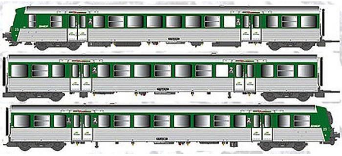 Train électrique : EURO PASSION MODELS EPM 41.39.10 - Rame réversible régionale RRR Auvergne