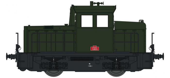 Modélisme ferroviaire : EURO PASSION MODELS EPM123314S - Locotracteur diesel Y-6573 DIGITAL SON