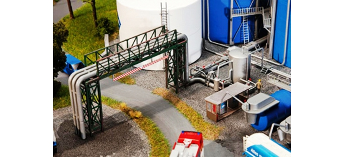 Modélisme ferroviaire : FALLER F130487 - Tuyaux et pipeline de soutirage