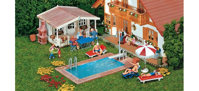 F180542 - Piscine et abri de jardin - Faller