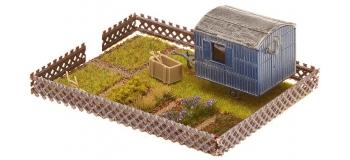 F180490 - Jardin ouvrier avec mobile-home - Faller