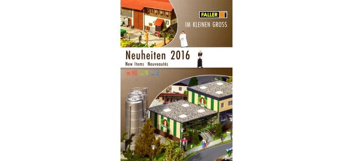 FALLER-CAT2016-N - Brochure Faller - Nouveautés  2016 - Faller