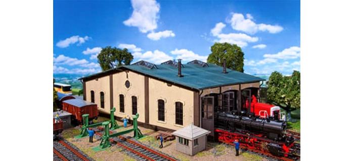 Modélisme ferroviaire FALLER F120277 - Rotonde - remise à locomotives